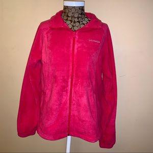 Brand new hot pink Columbia fleece zip up size L